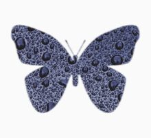 Blue Raindrops Butterfly  by David Dehner