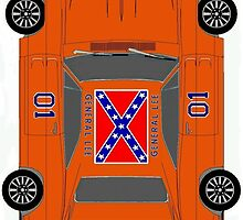 "The General Lee (Please click ""description"" for real pics of case) by ALIANATOR"
