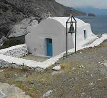 Amorgos Island Sea side Chapel : Greece 5 by SlavicaB