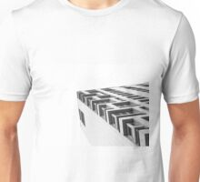 Monochrome Building Abstract 4 Unisex T-Shirt
