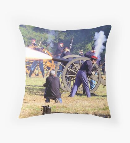 The Battle Of Sucessionville As the Canon went off Throw Pillow