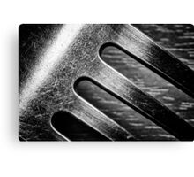 Monochrome Kitchen Fork Abstract Canvas Print