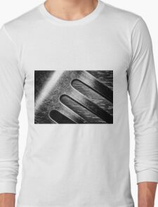 Monochrome Kitchen Fork Abstract Long Sleeve T-Shirt