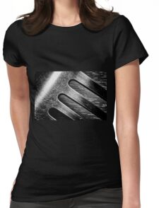 Monochrome Kitchen Fork Abstract Womens Fitted T-Shirt