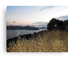 Greek Island Sunset view Canvas Print