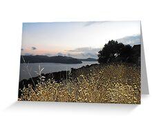 Greek Island Sunset view Greeting Card