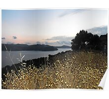 Greek Island Sunset view Poster
