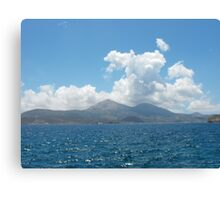 Greek Island Sailing Canvas Print
