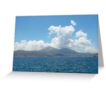 Greek Island Sailing Greeting Card