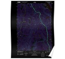 USGS TOPO Map New Hampshire NH North Grantham 20120508 TM Inverted Poster