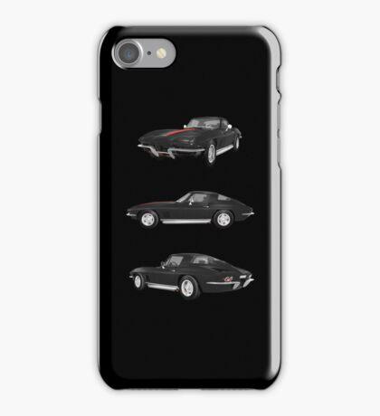 Black 1967 Corvette Stingray iPhone Case/Skin
