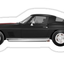 Black 1967 Corvette Stingray Sticker