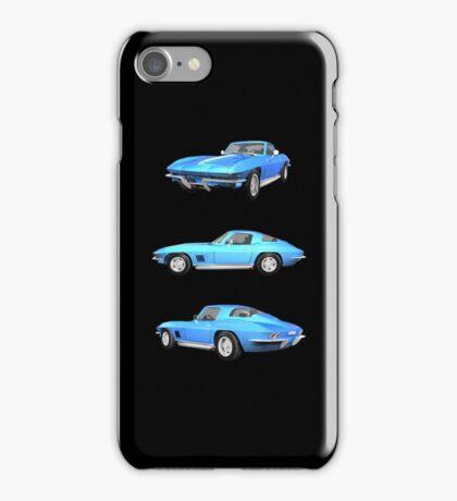 Blue 1967 Corvette Stingray iPhone Case/Skin