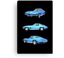 Blue 1967 Corvette Stingray Canvas Print