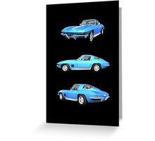 Blue 1967 Corvette Stingray Greeting Card