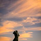 The statue at sunset by Ralph Goldsmith