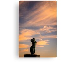 The statue at sunset Canvas Print