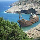 Greek Island Ship Wreck by SlavicaB