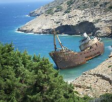 Greek Island Ship Wreck by SlavicaB
