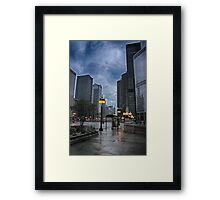 Chicago Street Scene Framed Print