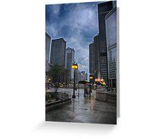 Chicago Street Scene Greeting Card
