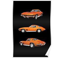 Orange 1967 Corvette Stingray Poster