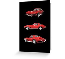 Red 1967 Corvette Stingray Greeting Card