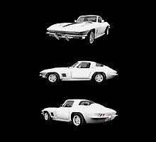White 1967 Corvette Stingray by bradyarnold