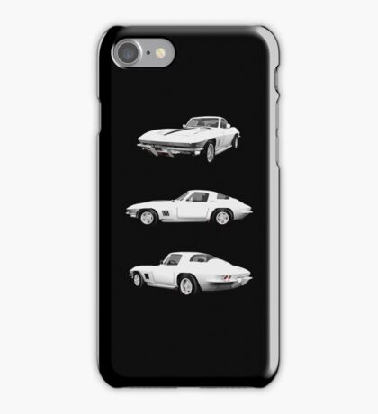 White 1967 Corvette Stingray iPhone Case/Skin