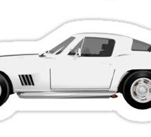 White 1967 Corvette Stingray Sticker