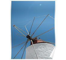 Greek Island Windmill 1 Poster