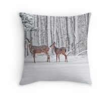 Winter Visit Throw Pillow