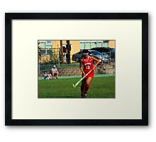 090712 086 0 impressionist field hockey  Framed Print