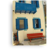 Greek Island House 2 Canvas Print