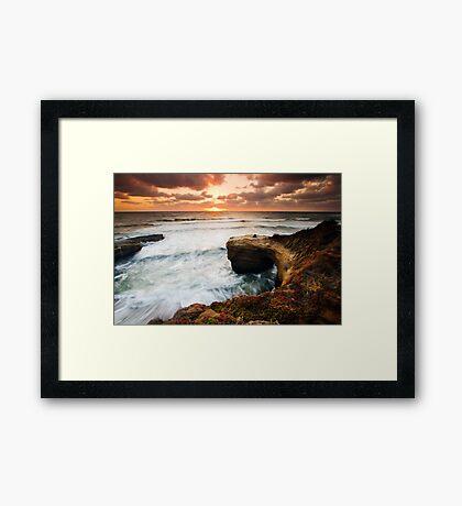 Picnic Romance at Sunset Cliffs San Diego Framed Print