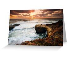 Picnic Romance at Sunset Cliffs San Diego Greeting Card