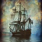 iPad Case-Ship on the Water by Pamela Phelps