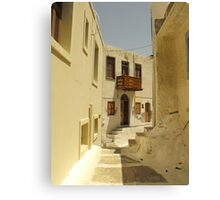 Greek Island Street : Samos Canvas Print