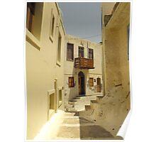 Greek Island Street : Samos Poster