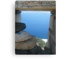 Greek Island Ocean View Canvas Print