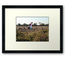 Rick gives a prime example of kicking you when you're down!! Framed Print