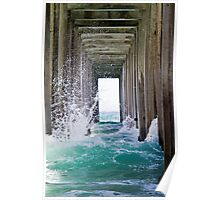 Pier Wave Break at La Jolla Poster