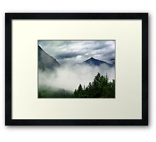 Mountain In The Mist- Mt. Terry Fox Framed Print