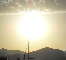 Sailboat anchored at Sunset in Samos by SlavicaB