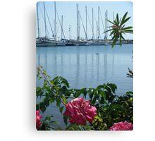 Astypalaia Greek Island Port Canvas Print
