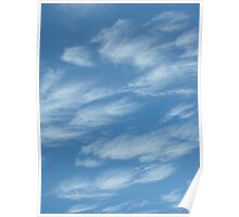 Fluffy clouds in the sky Poster
