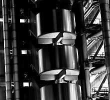 Lloyd's Building London abstract  by DavidHornchurch