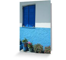 Greek Island house 3 Greeting Card