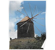 Greek Island Windmill 2 Poster