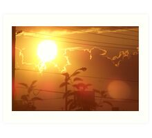 The Color Of the Sunset Art Print